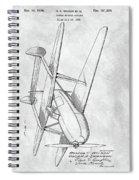 Tandem Biplane Patent Spiral Notebook
