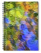 Tangerine Twist Mosaic Abstract Art Spiral Notebook