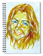 Tania Helft, Portrait Spiral Notebook