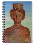 Tanit Mythical Godess Of Ibiza  Spiral Notebook