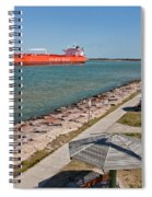Tanker Transporting Crude Oil Spiral Notebook