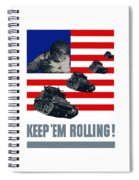 Tanks -- Keep 'em Rolling Spiral Notebook