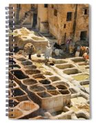 Tanneries Of Fes Morroco Spiral Notebook