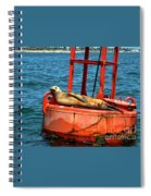 Tanning Sea Lion On Buoy Spiral Notebook