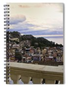 Taormina Balcony View 2 Spiral Notebook