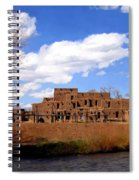 Taos Pueblo Early Spring Spiral Notebook