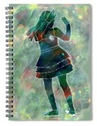 Tap Dancer 1 - Green Spiral Notebook