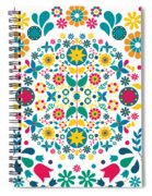 Flores Y Aves Spiral Notebook
