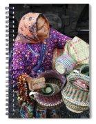 Tarahumara Basket Vendor Spiral Notebook