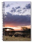 Tarangire Sunset Spiral Notebook