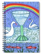 Tarot Of The Younger Self Ace Of Cups Spiral Notebook