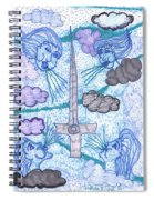 Tarot Of The Younger Self Ace Of Swords Spiral Notebook