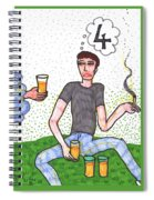 Tarot Of The Younger Self Four Of Cups Spiral Notebook