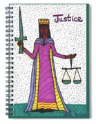 Tarot Of The Younger Self Justice Spiral Notebook