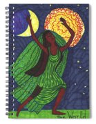 Tarot Of The Younger Self The World Spiral Notebook