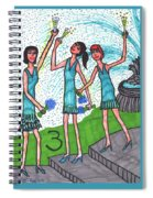 Tarot Of The Younger Self Three Of Cups Spiral Notebook