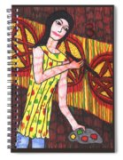 Tarot Of The Younger Self Three Of Pentacles Spiral Notebook