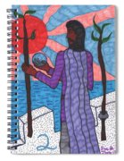 Tarot Of The Younger Self Two Of Wands Spiral Notebook