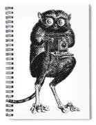 Tarsier With Vintage Camera Spiral Notebook