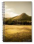 Tasmania West Coast Mountain Range Spiral Notebook
