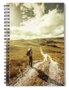 Tasmanian Man On Road In Nature Reserve Spiral Notebook