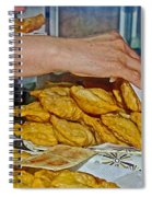 Tasty Hot Empanadas For Lunch In Angelmo Fish Market In Puerto Montt-chile Spiral Notebook