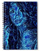 Tatto Lady With The Blues Spiral Notebook