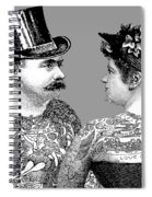 Tattooed Victorian Lovers Spiral Notebook