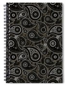 Taupe Brown Paisley Design Spiral Notebook