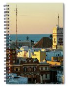 Tavira Tower And Post Office From West Tower Cadiz Spain Spiral Notebook