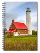 Tawas Point Lighthouse - Lower Peninsula, Mi  Spiral Notebook