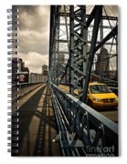 Taxi Crossing Smithfield Street Bridge Pittsburgh Pennsylvania Spiral Notebook