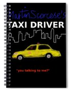 Taxi Driver Movie Poster Spiral Notebook