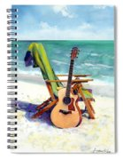 Taylor At The Beach Spiral Notebook