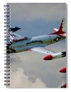 Tbirds Lockheed T-33 Shooting Star Spiral Notebook