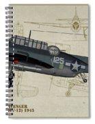Tbm-3 Avenger Profile Art Spiral Notebook