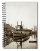 T.c. Walker Paddle Riverboat City Of Stockton Riverboat And Kath Spiral Notebook