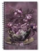 Tea And Roses Spiral Notebook