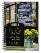 Tea And Toast For One Spiral Notebook