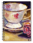 Tea Cup With Rose Still Life Grace Venditti Montreal Art Spiral Notebook