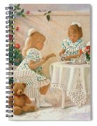Tea In The Rose Garden Spiral Notebook