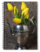Tea Pot And Tulips Spiral Notebook
