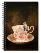 Tea Time With A Hummingbird Spiral Notebook