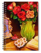 Teacup And Roses Spiral Notebook