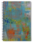 Teal Abstract, A New Look Again Spiral Notebook