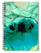 Teal Aqua Art - Connected - Sharon Cummings Spiral Notebook