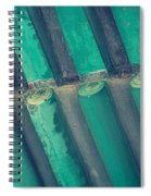 Teal Chinese Ceiling Spiral Notebook