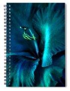 Teal Gladiola Flower Spiral Notebook