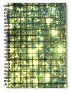 Teal Gold Cubes Spiral Notebook