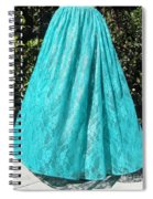 Teal Green Lace Skirt. Ameynra By Sofia Spiral Notebook